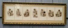 Antique Art Crafts Aged Swirl Gilt Gold Picture Frame 7 Beamer Photographs 8~26