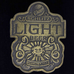 Schlitz Luz Logo Brewing Co Pabst PBR Milwaukee NOS 1976 Vintage Hebilla