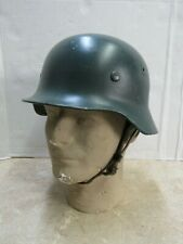 Post Ww2 West German M40 / M52 Helmet Police Polizei Linnemann & Schnetzer