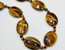Beautiful! 13X18mm Natural Yellow Tiger Eye Gemstone Necklace 18'' AAA