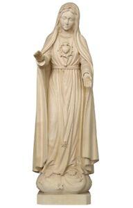 Statue Madonna of Fatima Wood Natural