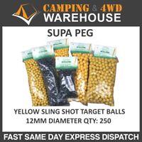 Supa Peg Yellow Sling Shot Target Balls 12mm - 798YH