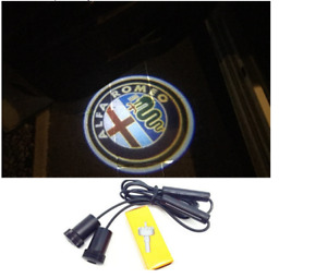 ALFA ROMEO LED Logo 2x Door Shadow Light Entrance Lighting Projector for All