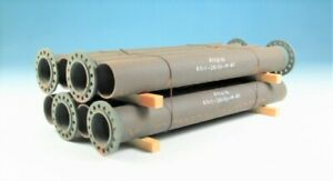 """DUHA 16326 PIPE STACK FOR TRUCK TRAILER/TRAIN LOAD FREIGHT 1:24 """"NEW"""""""