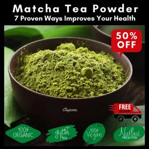 Premium Matcha Green Tea Powder - Japanese Organic Detox Latte - Up to 200 Sever