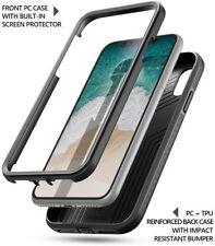 Apple iPhone X Case , Poetic Revolution Full-Body Rugged Heavy Duty Cover Black