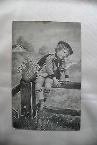 Real memory for the Good old days 100 years postcard stamp on the back 1908