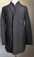 New $3295 Ermenegildo Zegna Coat Trench Coat Dark Brown 38 US ( 48 Eur )Italy