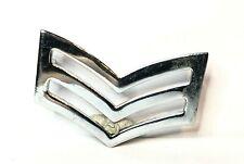 military Chrome Metal Sergeant Stripes Badge 4 x 2.5 cm's