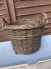 More details for antique french wicker log basket