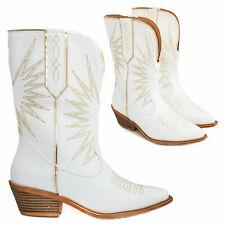 Scarpe donna stivali stivaletti texani camperos western estivi TOOCOOL ML58