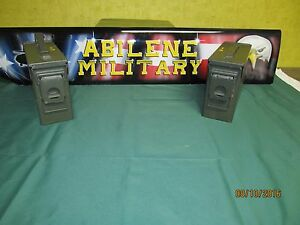 2 Pack 30 cal Ammo Cans 7.62 M19A1 Boxes Army Military Excellent 2 Cans