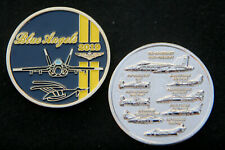 Blue Angels 2019 Challenge Coin Us Navy Marines Aviation Pin Up Uss F18 Ba R
