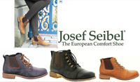 Leather comfort lace up elastic Ankle boots Josef Seibel Shoes Germany Sienna 09
