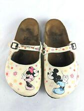 Disney Birki's By Birkenstock Mickey & Minnie Mouse Clogs Mules Shoe 37 / 6