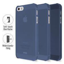 Clip de goma Artwizz para iPhone SE / 5S / 5, clip protector azul cubierta del e