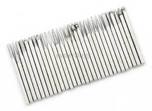 30 Diamond 2.3mm Burr Engraving Dremel Rotary Metal Drill Bit Tool Set Tip Head