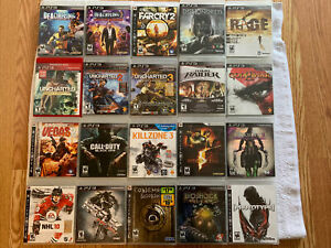 20 PS3 GAMES LOT - Uncharted Series, Black Ops, Dead Rising, Darksiders & mor