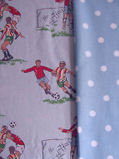Cath Kidston bundle 2 * 43cm square footie football player & large spots blue