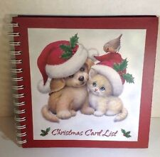 Christmas Card Address Book A-Z Pages 8x8 Gift Organize Kitten & Puppy
