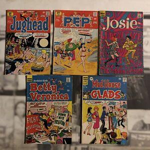 Archie Comics Betty Veronica 179,Jughead 220,Pep 280, Josie 36, Mad House Inv#8