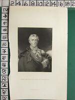 c1830 ANTIQUE PRINT ~ FIELD MARSHAL THE DUKE OF WELLINGTON