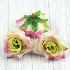 10Pcs 6cm Silk Artificial Rose Flower Heads Bulks Wedding Home DIY Decor Craft