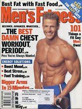 MEN'S FITNESS MAGAZINE ~ December 2002 Best Chest Workout David Sinclair ~ E-5-3