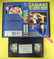 VHS film SABAKI WORLD CHAMPIONSHIP TOURNAMENT FULL CONTACT KARATE (F98) no dvd