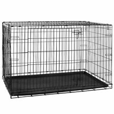 Pet Cage Dog Cat Puppy Training Folding Crate Animal Transport 42 Inch Metal