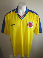 XL vtg 90s REEBOK COLOMBIA SOCCER JERSEY FOOTBALL SHIRT WOLD CUP USA COLOMBIANA