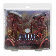 "9"" NECA Aliens Genocide Red Xenomorph Concept Big Chap & Dog Alien figure 1 set"