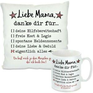 Kissen oder Tasse - Liebe Mama, danke dir für ... alles Geschenk zu Muttertag