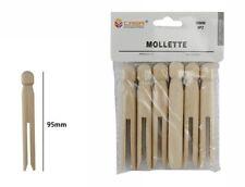 Set 6 Pezzi Mollette Pinze Bucato Panni Legno Bricolage Hobbystica dfh