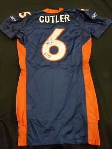 2006 JAY CUTLER SIGNED BRONCOS ROOKIE PLAYER ISSUED PROFESSIONAL MODEL JERSEY