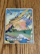 R164 War Gum 1941 #22 - Dutch Sea  Air Offensive