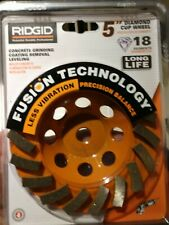"RIDGID TAW5018P1 5"" Diamond Cup Wheel - Concrete - NEW, Sealed! - R161"