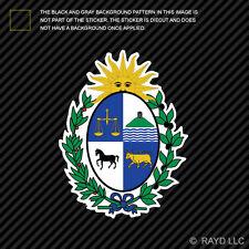 Uruguayan Coat of Arms Sticker Decal Self Adhesive Vinyl Uruguay flag URY UY