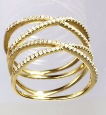 """14k Rose or Yellow Gold  Double """"X"""" Ring with Diamond ( Dia 0.34cts) *"""
