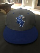 Tennessee Smokies 7 1/8 Game Issue Hat Blue/Grey! Chicago Cubs AA Affiliate