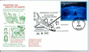 #3411 ESCAPING THE GRAVITY OF EARTH $3.20 PRIORITY MAIL HOLOGRAPHIC STAMP FDC