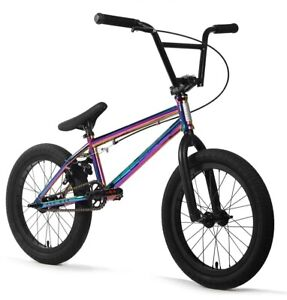 "Elite 18"" BMX Pee Wee Bicycle Freestyle Bike 3 Piece Crank Oil Slick NEW"