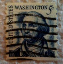 1966 U. S. Scott 1304 George Washington one used cancelled 5 cent stamp