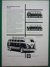 11/1959 PUB VOLKSWAGEN VW AUTO VOITURE CAR KOMBI COMBI TRANSPORTER GERMAN AD