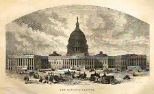 "Engraving from ""The Great Republic"" -1871- THE NATION'S CAPITAL"