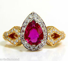 █$12,000 GIA NO HEAT 2.40CT NATURAL RUBY DIAMOND RING CLASSIC SET UNHEATED BLOOD