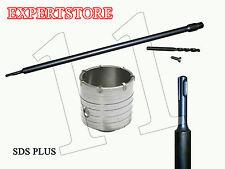 Fresa a Tazza mm 110 CAROTATRICE + ASTA SDS PLUS 1000 MM