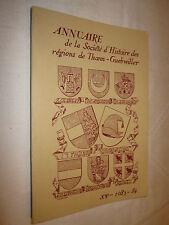 ALSACE: ANNUAIRE SOCIETE D'HISTOIRE et D'ARCHEOLOGIE THANN GUEBWILLER 1983-84