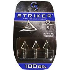 "G5 Broadhead Striker 3pk 100 Grain 1 1/8"" Cut Stainless Steel #00180"