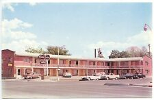 """Billings MT The Town House """"Best Western""""  Signage Old Cars Postcard"""